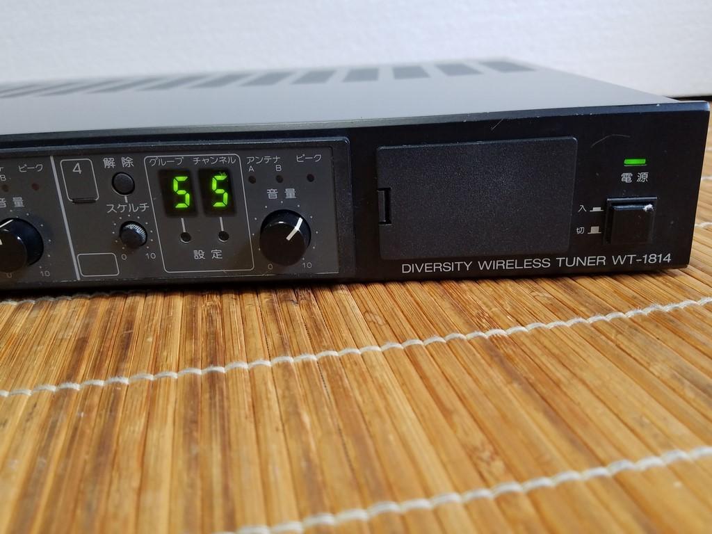 TOA WT-1814 ダイバシティワイヤレスチューナー 現状品_画像2