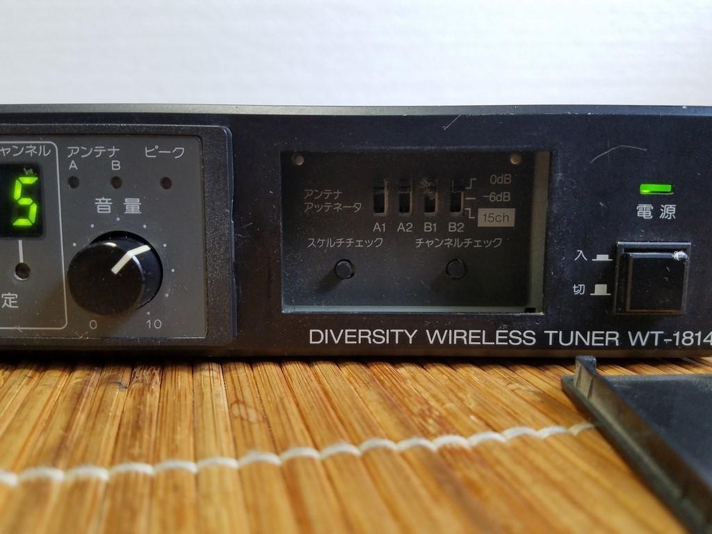 TOA WT-1814 ダイバシティワイヤレスチューナー 現状品_画像3