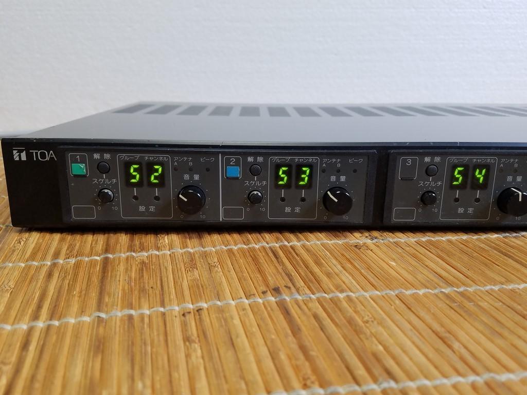 TOA WT-1814 ダイバシティワイヤレスチューナー 現状品_画像4
