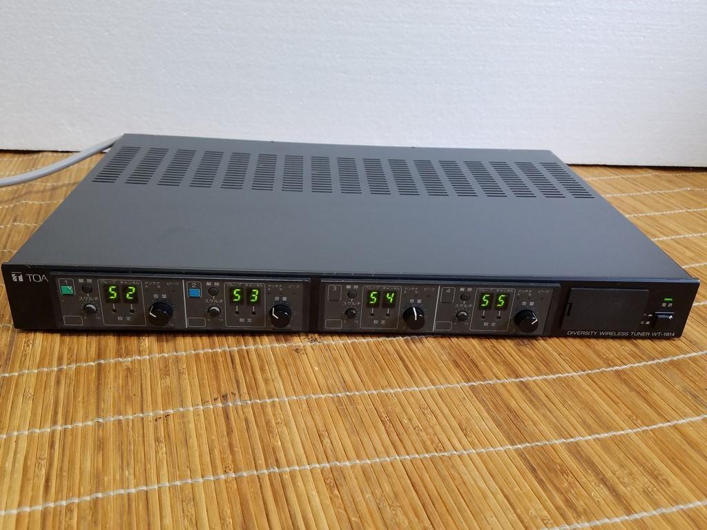TOA WT-1814 ダイバシティワイヤレスチューナー 現状品