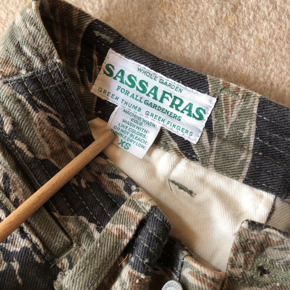 SASSAFRAS ササフラス FALL LEAF SPRAYER PANTS フォールリーフ スプレイヤーコットン パンツ タイガーカモ XSサイズ カーゴパンツ _画像3