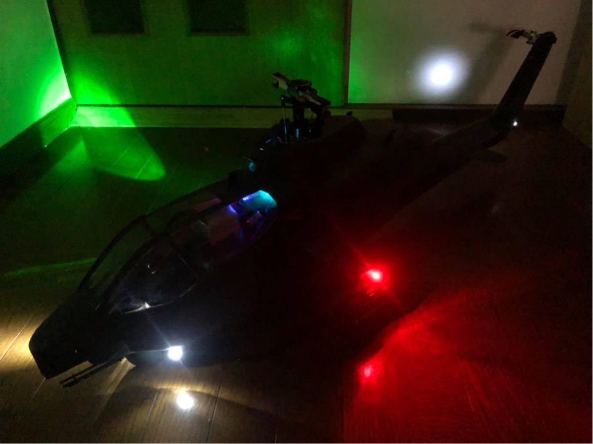 ALIGN T-rex500 SCALE FUSELAGE AH-1 フルLED仕様 中古品_画像8