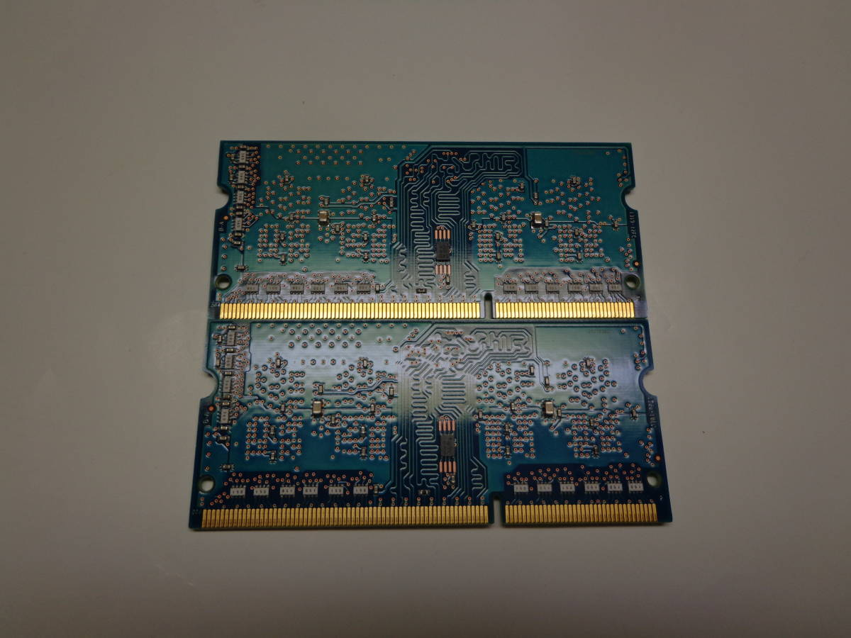 SK hynix製ノートPCメモリー2GB×2枚組PC3L-12800S(DDR3) 中古品_画像2