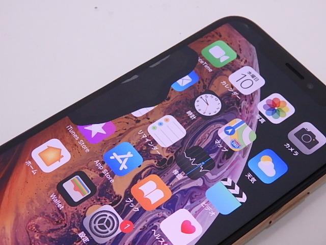 液晶ジャンク 国内版SIMフリー iPhone XS 64GB ゴールド NTAY2J/A_画像3