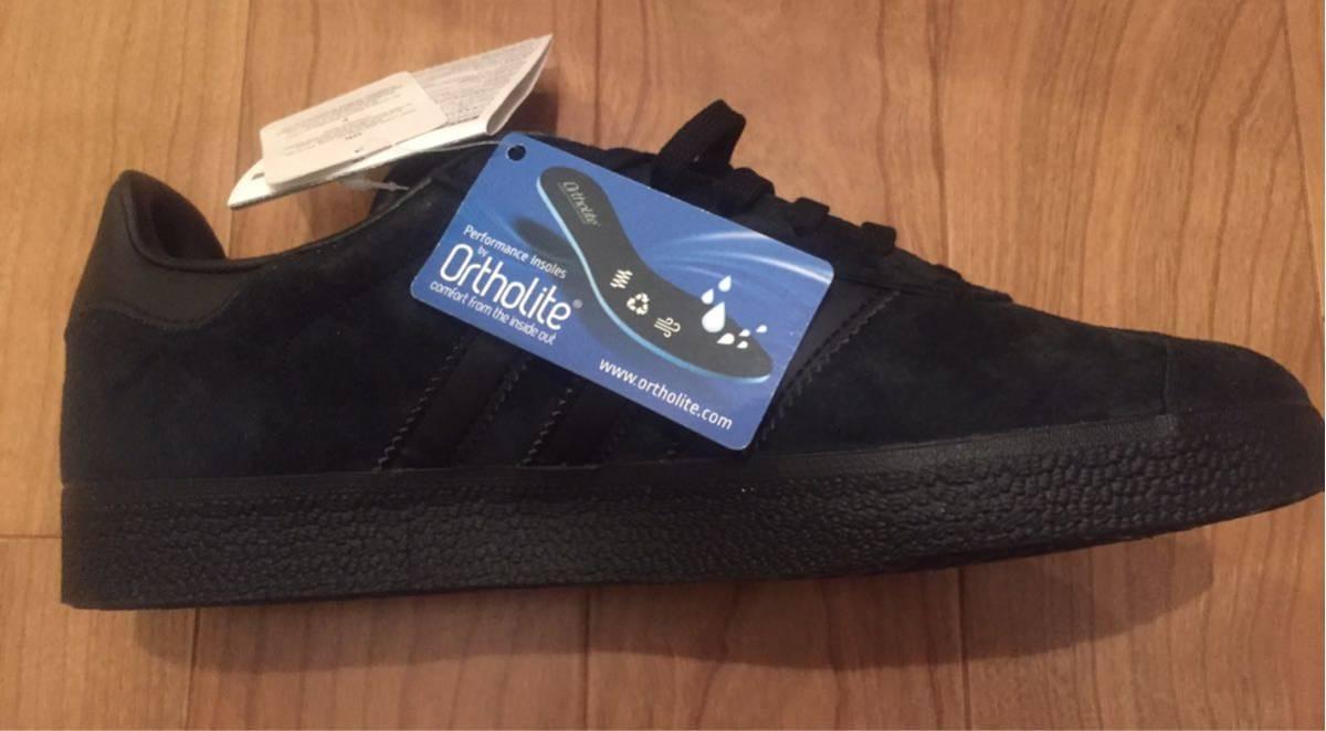 【即完売品】新品adidas gazelle アディダス ガゼル 26cmオールブラックUS8黒 ガッツレーcampus スタンスミス_画像6