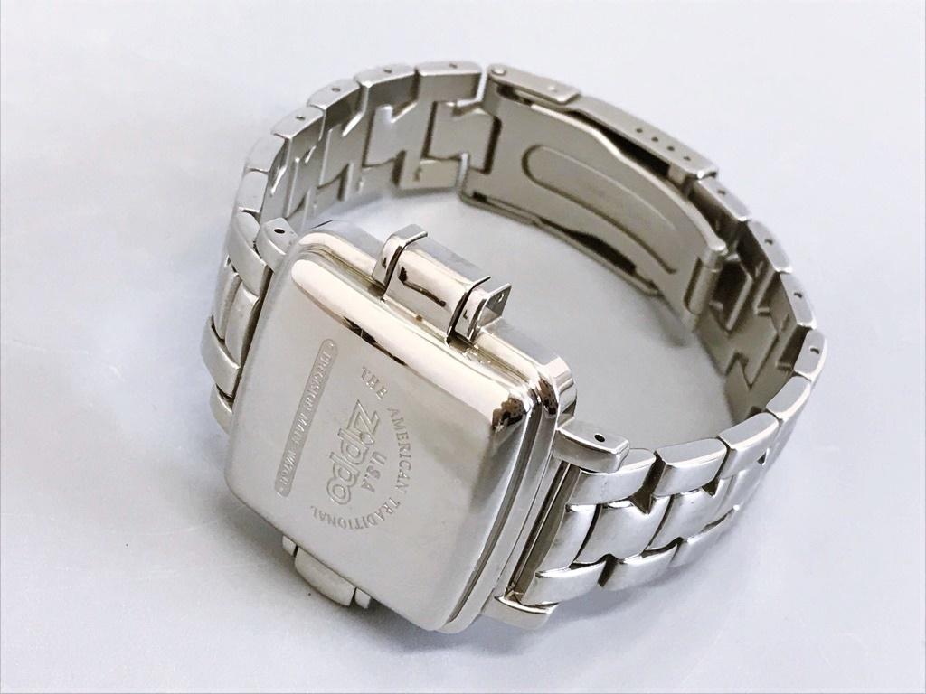 ジャンク品 Zippo ジッポ 10周年記念腕時計 03 No.0035 メンズ腕時計 記念腕時計 ウォッチ カバー付きウォッチ_画像8
