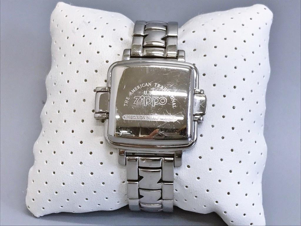 ジャンク品 Zippo ジッポ 10周年記念腕時計 03 No.0035 メンズ腕時計 記念腕時計 ウォッチ カバー付きウォッチ_画像2