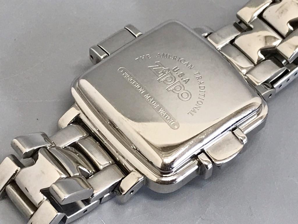 ジャンク品 Zippo ジッポ 10周年記念腕時計 03 No.0035 メンズ腕時計 記念腕時計 ウォッチ カバー付きウォッチ_画像6
