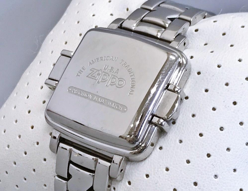 ジャンク品 Zippo ジッポ 10周年記念腕時計 03 No.0035 メンズ腕時計 記念腕時計 ウォッチ カバー付きウォッチ