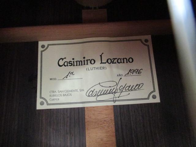 Casimiro Lozano カシミーロ ロサーノ 1996年 クラシックギター_画像10
