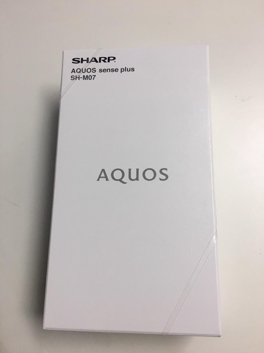 新品未使用  SIMフリー シャープ SHARP AQUOS sense plus SH-M07   ホワイト  NB8958