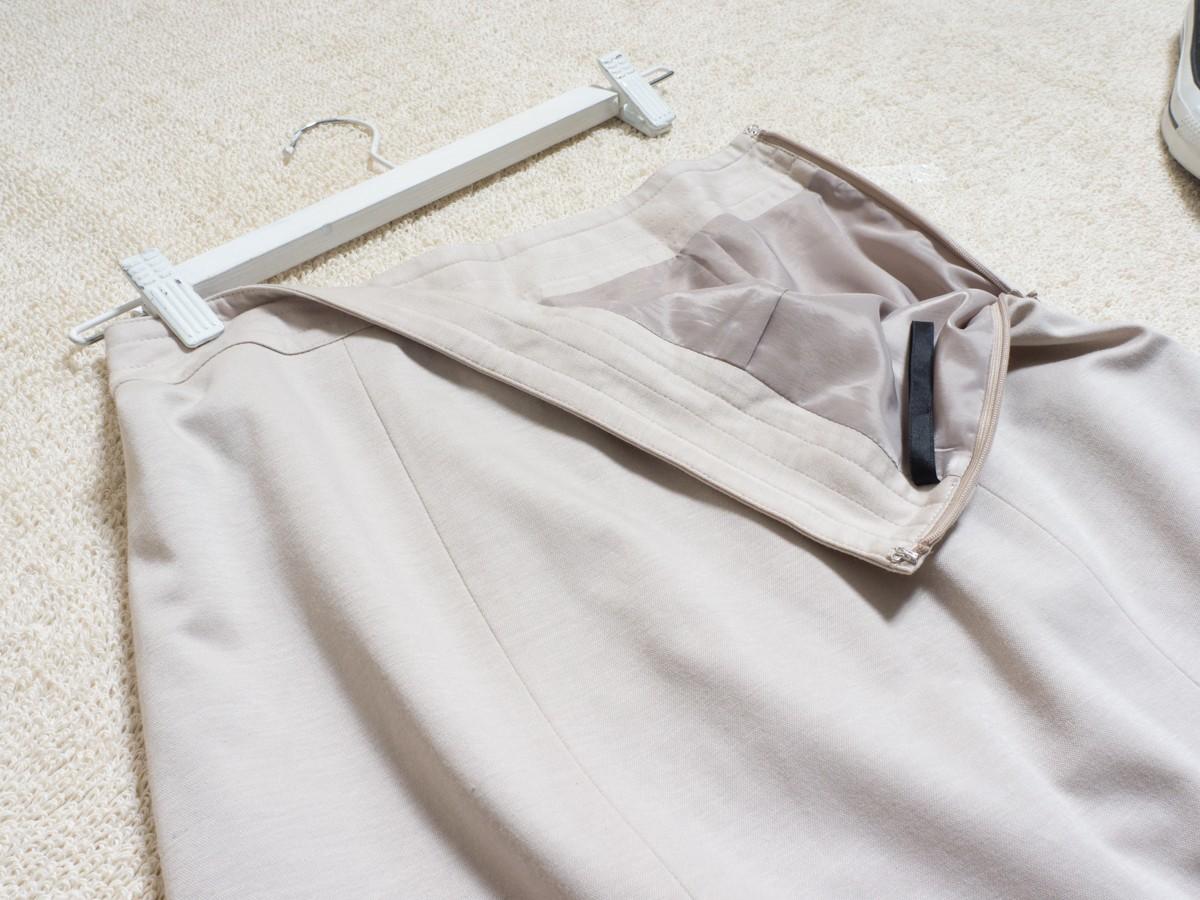 ゆうパケット◯ 美品 Reflect スカート ジャージ フレア シンプル きれいめ 可愛い 大人 薄灰/ベージュ 9 日本製 7f7c046_画像3