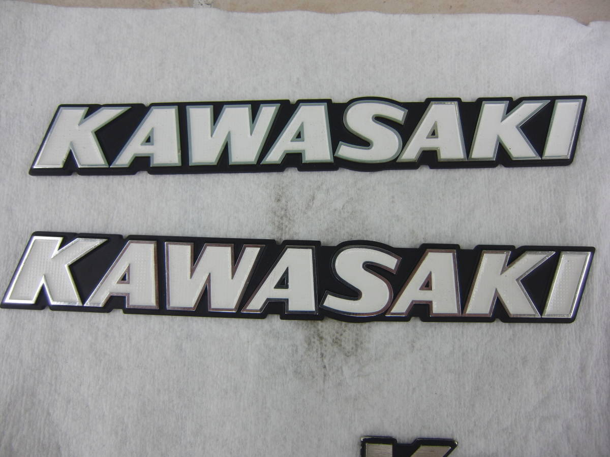 KAWASAKI Z400GP 純正タンクエンブレム 2セット USED 当時物 オマケつき_画像4
