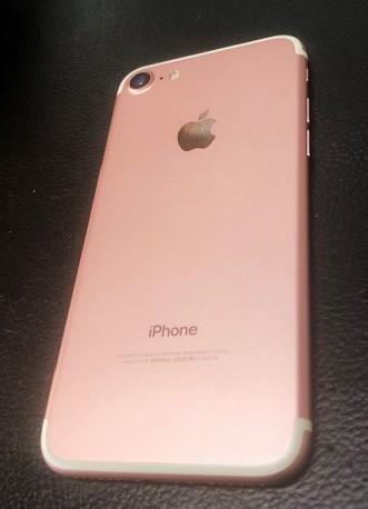 Appleストアーにて購入品 iPhone7 SIMフリー 128GB 国内版 ローズゴールド 新品同様_画像2