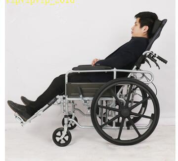 お年寄り 車椅子 折りたたみ式 軽量 ポータブル 便器付き 小型 多機能 完全に横になれる 身体障害者 手押し車SWX-LY170_画像3