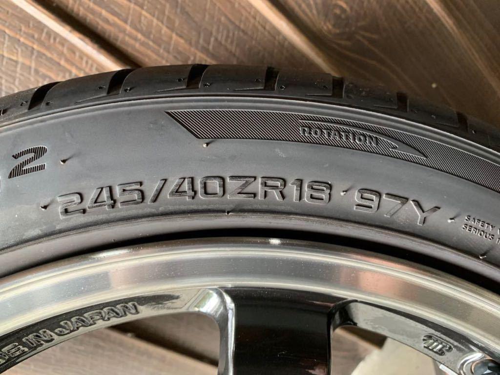RAYS TE37 SL 18インチ 9.5j +22 ハンコックタイヤ付き_画像6