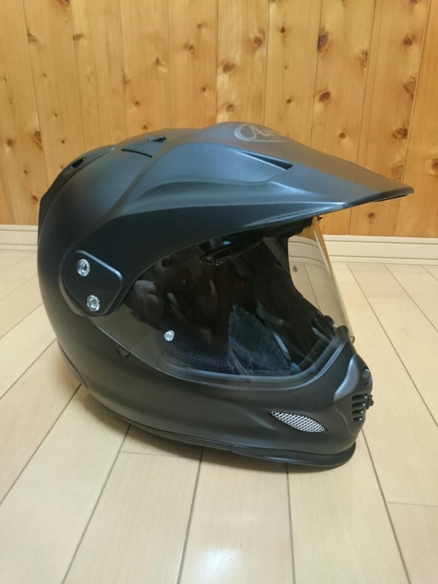 アライ ツアークロス3 フラットブラック 61-62 LL XL Arai ヘルメット 中古 美品 オフロード