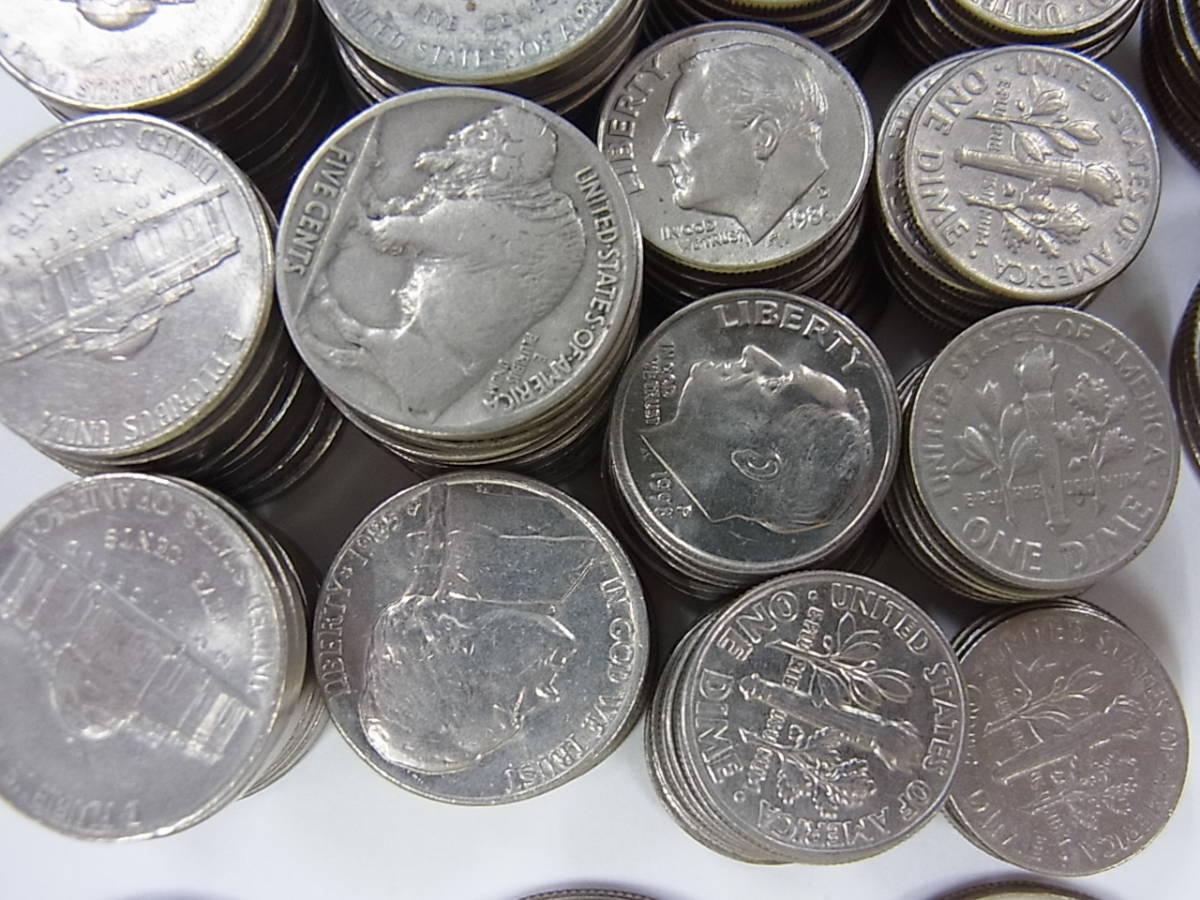 〇137 アメリカ ドル セント まとめて32ドル 205枚 外国コイン 硬貨 _画像3
