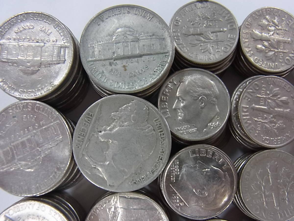〇137 アメリカ ドル セント まとめて32ドル 205枚 外国コイン 硬貨 _画像2