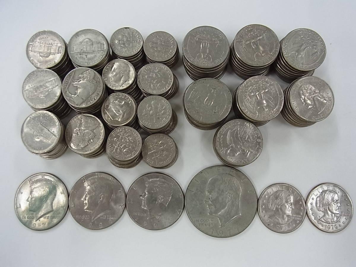 〇137 アメリカ ドル セント まとめて32ドル 205枚 外国コイン 硬貨