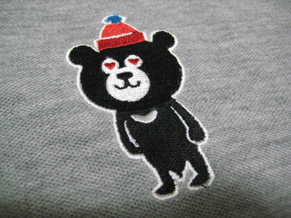 ★☆★【BEAMS T】のベアー刺繍ポロシャツ★S★美品!!!_画像4