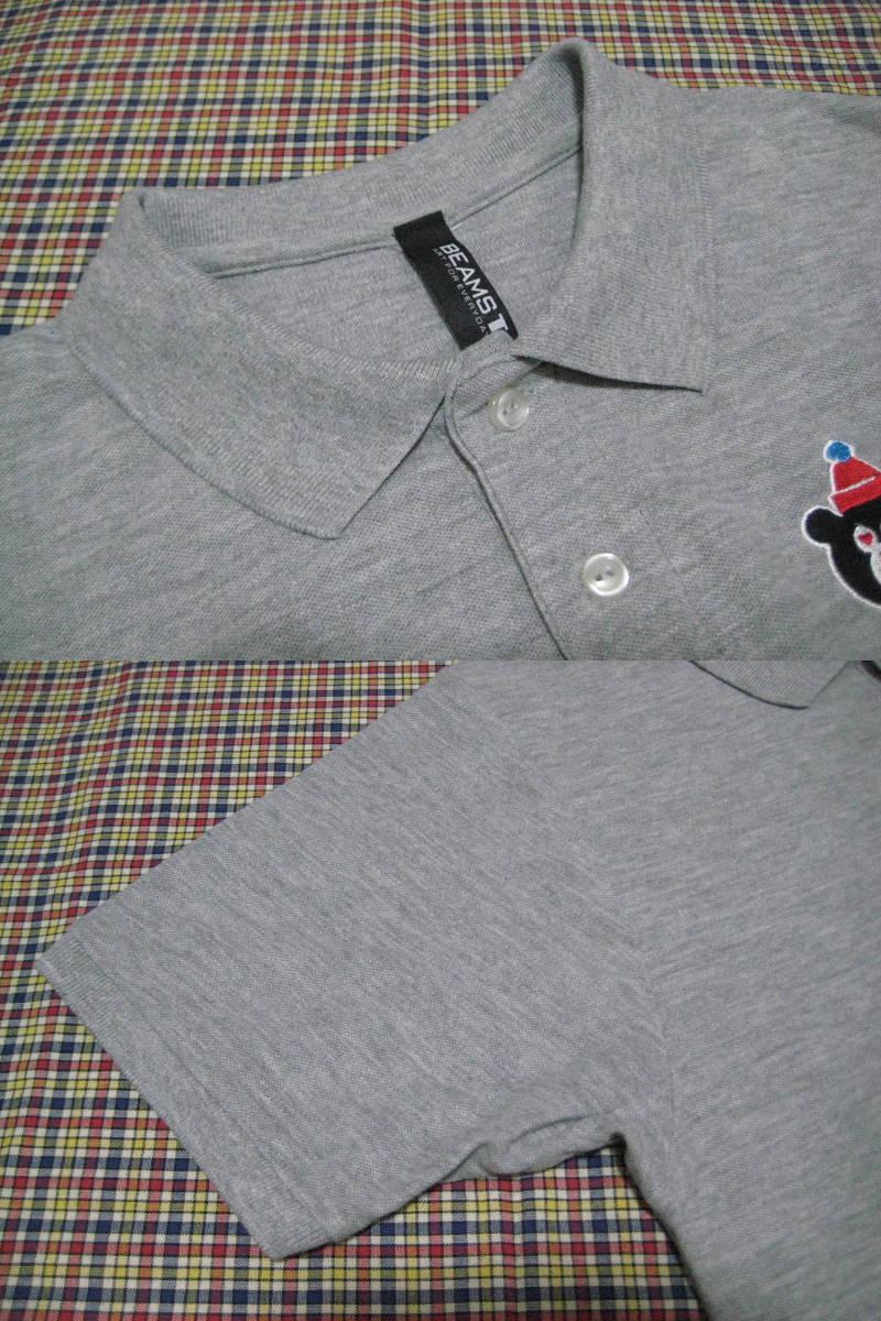 ★☆★【BEAMS T】のベアー刺繍ポロシャツ★S★美品!!!_画像3