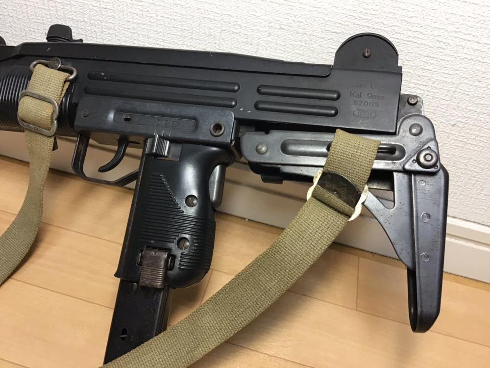 【智】マルシン MP UZI kal 9mm 820119 imi /ウージー 金属 モデルガン SMG刻印 重厚感 元箱無し 現状品 ジャンク 写真参照_画像2