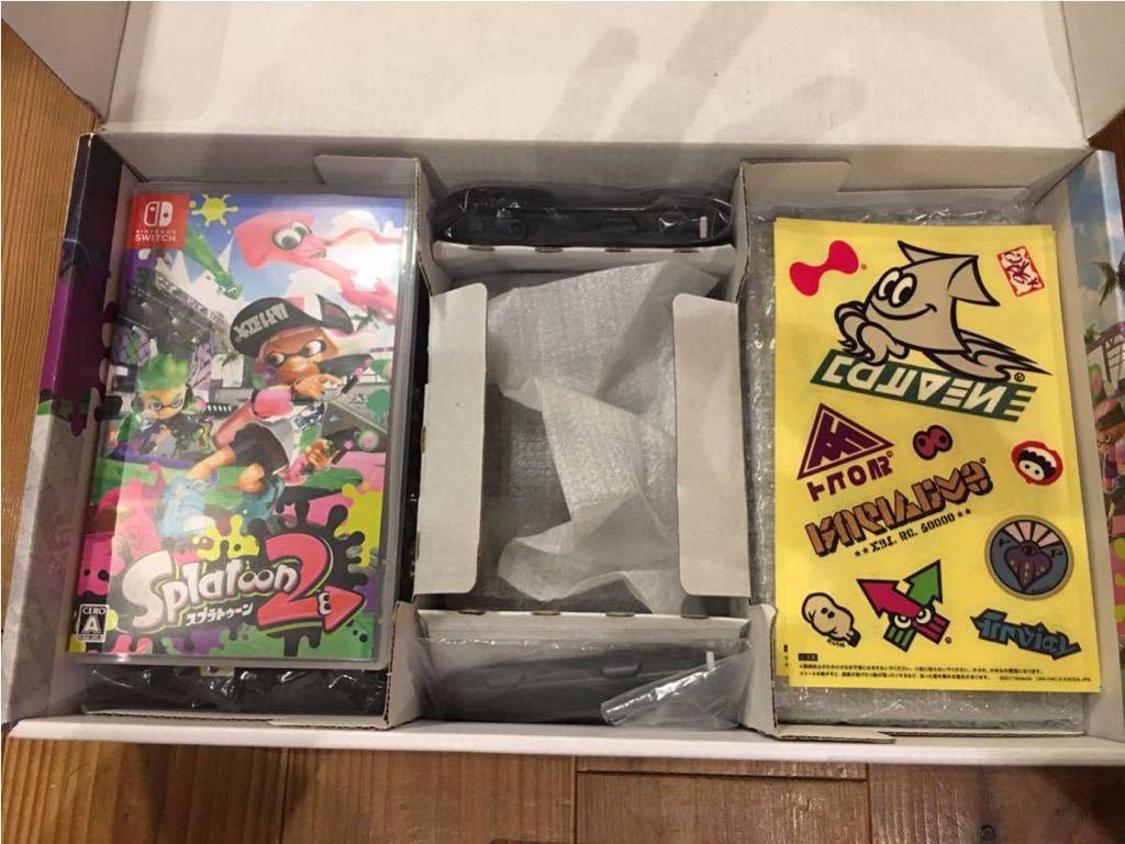 Nintendo SWITCH ニンテンドウ スイッチ スプラトゥーン2セット 本体 使用感有り キャリングケース付き_画像4