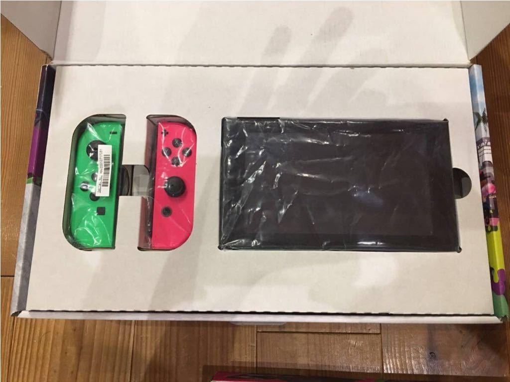 Nintendo SWITCH ニンテンドウ スイッチ スプラトゥーン2セット 本体 使用感有り キャリングケース付き_画像2