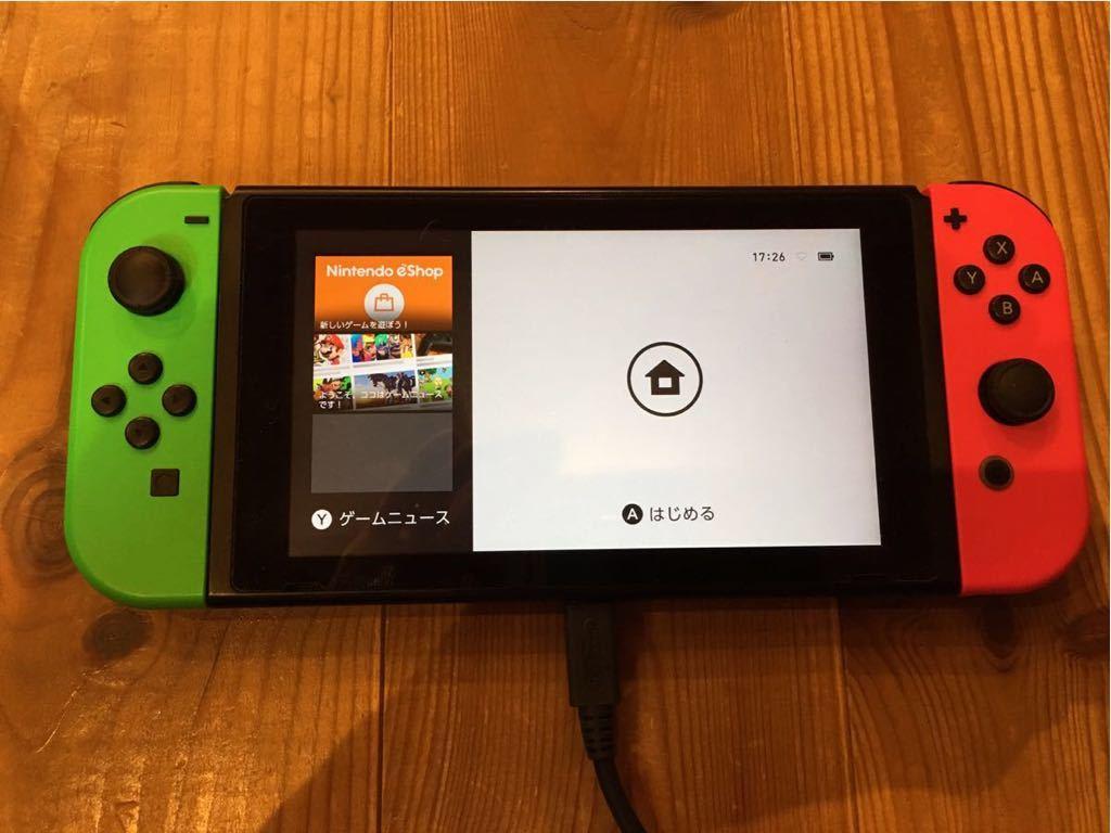 Nintendo SWITCH ニンテンドウ スイッチ スプラトゥーン2セット 本体 使用感有り キャリングケース付き_画像5