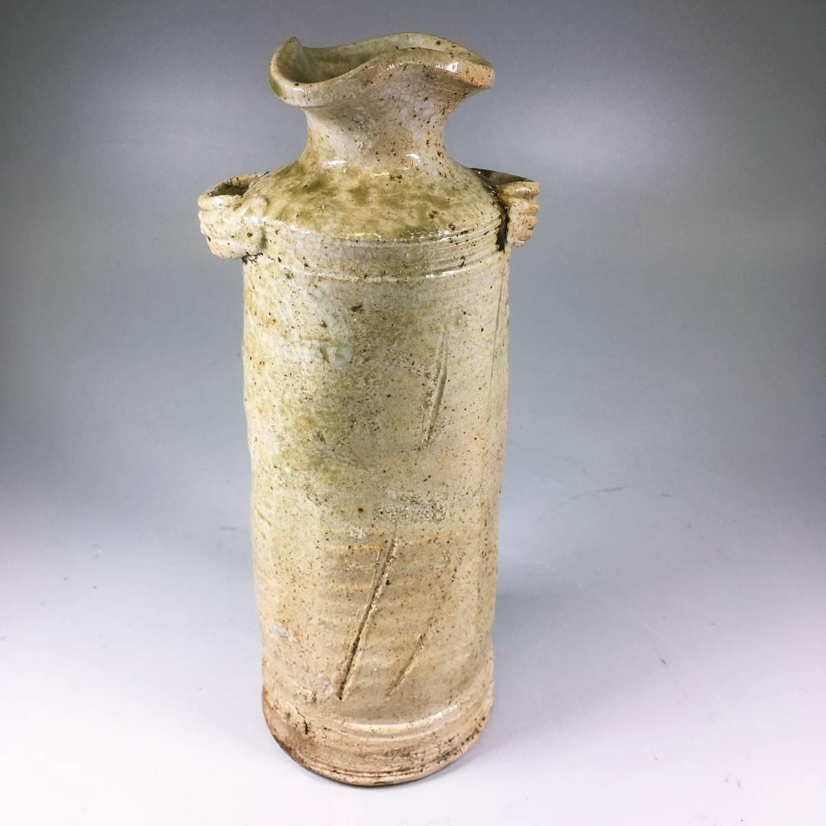 信楽焼 耳付花瓶 花器 花入れ 陶器 置物 古美術品 美品 花瓶 飾壺