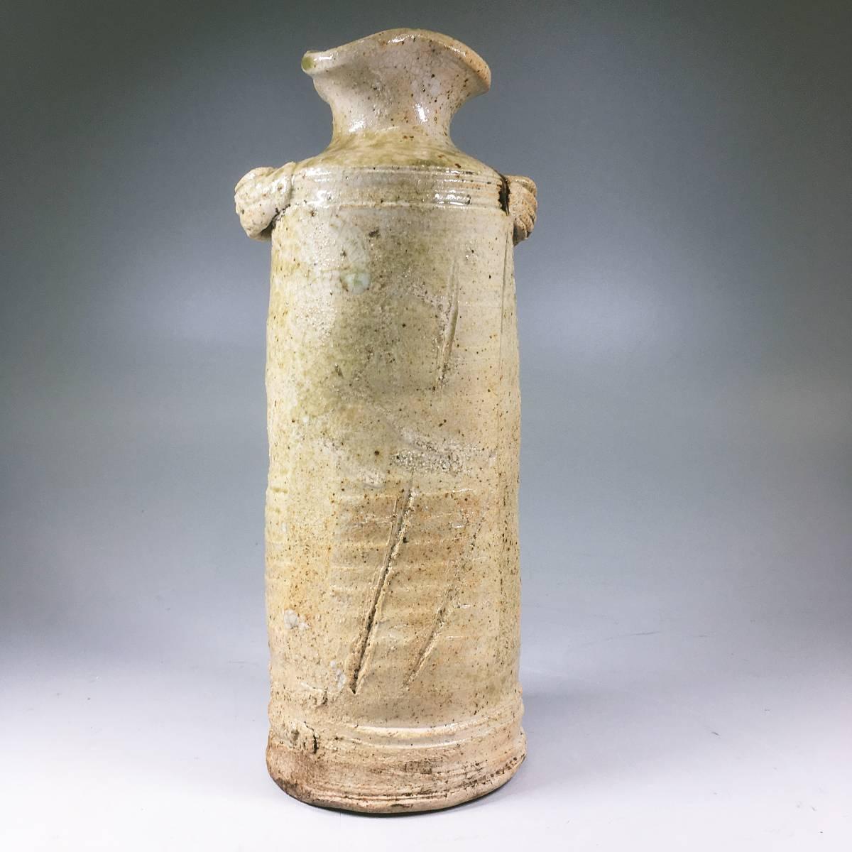 信楽焼 耳付花瓶 花器 花入れ 陶器 置物 古美術品 美品 花瓶 飾壺_画像2