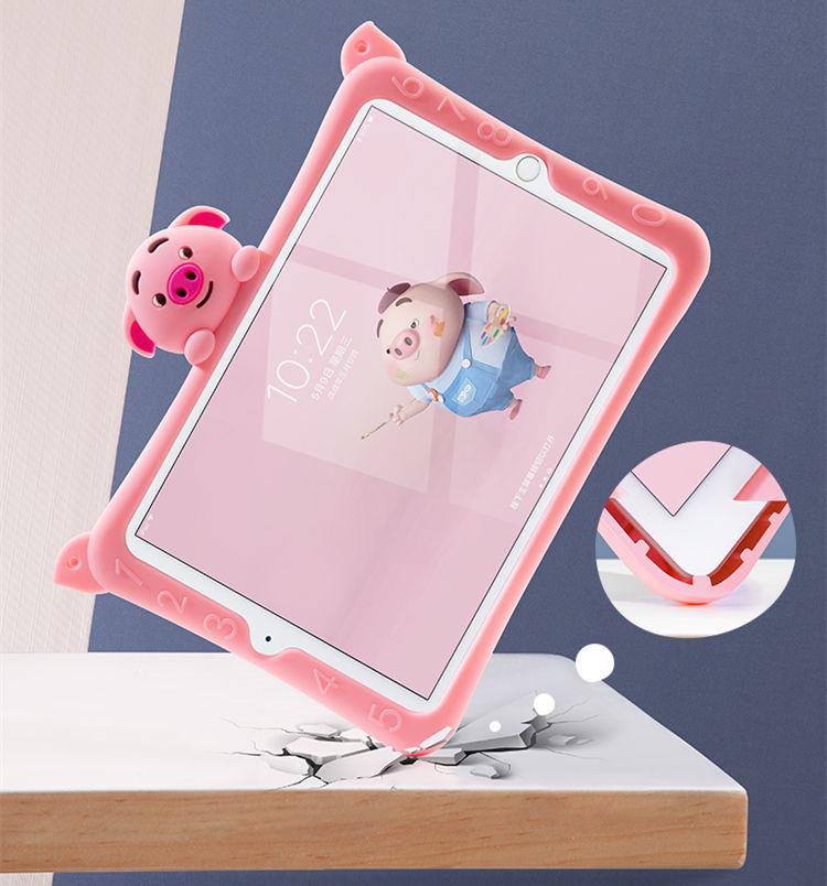 ipad mini5 ケース iPad mini(第5世代) 7.9インチ ケース シリコンケース 耐衝撃 スタンドタイプ 背面カバー ぶた かわいい_画像5