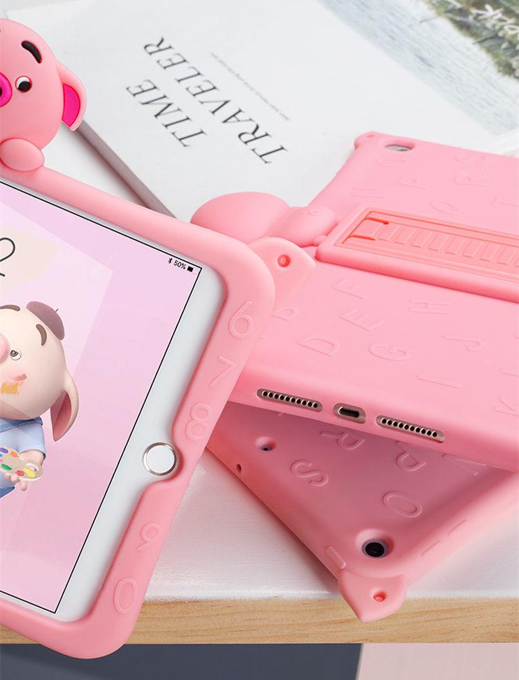 ipad mini5 ケース iPad mini(第5世代) 7.9インチ ケース シリコンケース 耐衝撃 スタンドタイプ 背面カバー ぶた かわいい_画像2