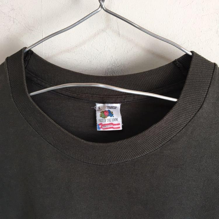 Travis Scott 着用 90s Apple レインボー ロゴ Tシャツ USA製 L ビンテージ Mac アップル 企業物 90年代 80s 古着 RAP シングルステッチ_画像7