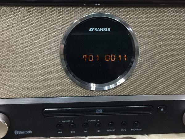 サンスイ CDステレオシステム SMS-800BT 難あり:ラジオ受信 ノイズあり W00_画像9