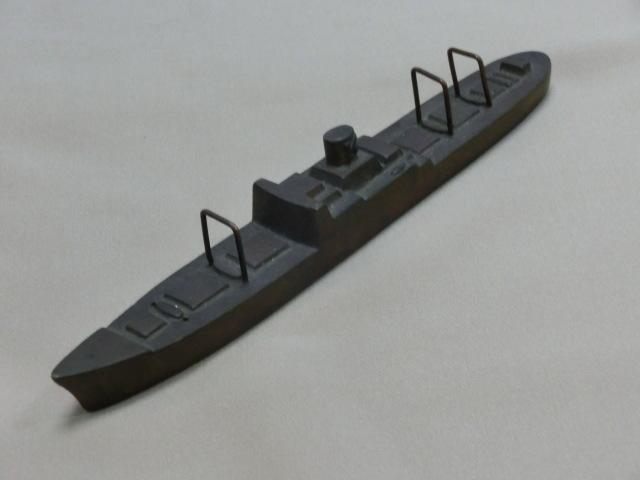 昭和レトロ テーブルコレクション 商船 貨物船深水記念品 一部部品欠品 文鎮 置物  KAMIKAWAMARU 1951