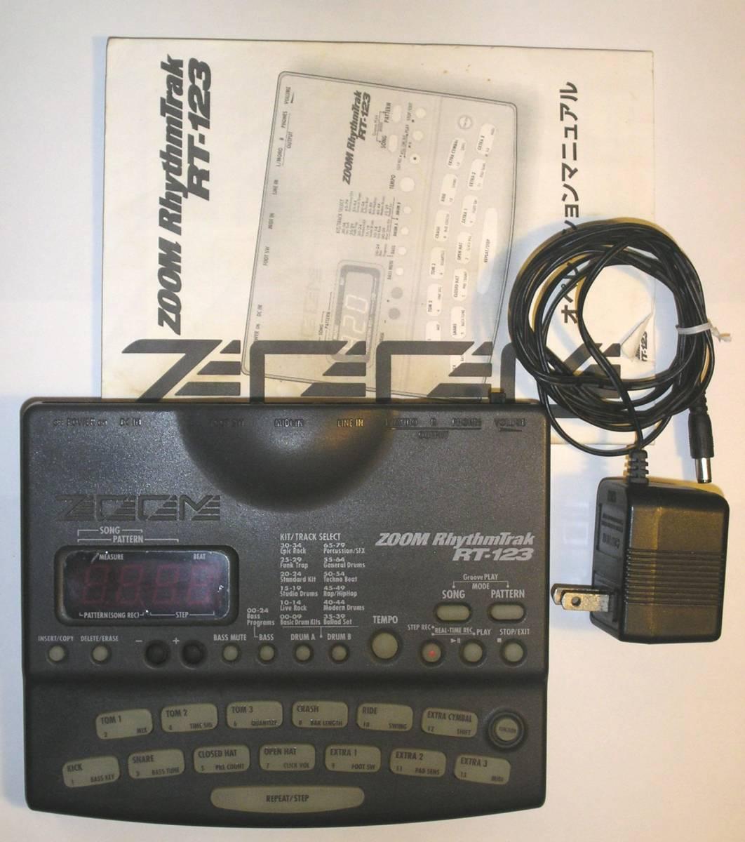 Zoom ズーム RT-123 RhythmTrak 高機能リズムマシン MIDI ACアダプター 取扱説明書 付属