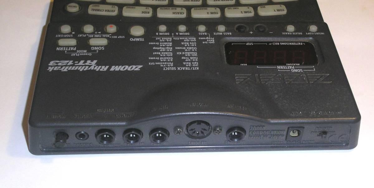 Zoom ズーム RT-123 RhythmTrak 高機能リズムマシン MIDI ACアダプター 取扱説明書 付属 _画像4