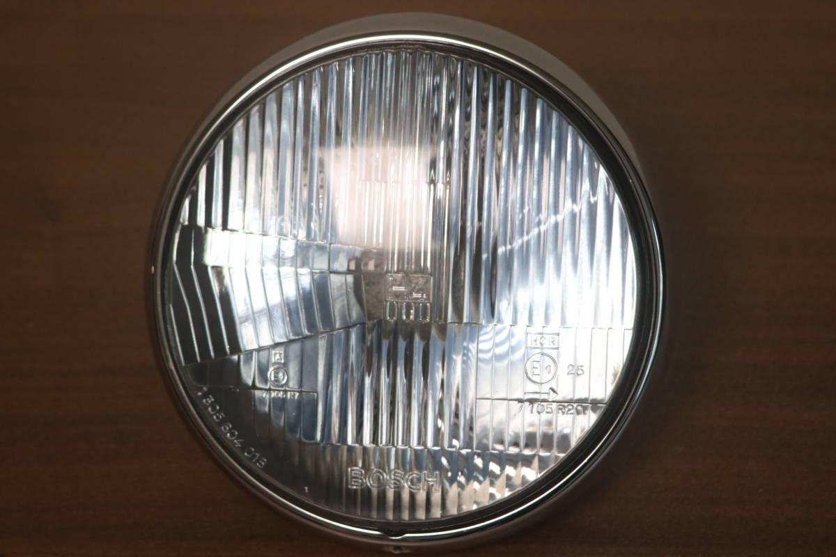 新車外し!BOSCH H4 ヘッドライト BMW 純正 R100R R100 ロードスター ミスティック ライトケース付 ボッシュ _画像1
