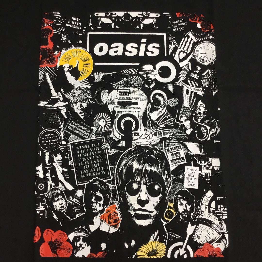 両面プリントバンドデザインビッグサイズ Tシャツ XXXL オアシス OASIS ② SR1A3