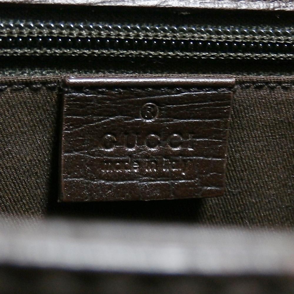 【GUCCI】 グッチ 良好 正規品 最高級 ◆ 本革 レザー ビジネスバッグ ブリーフケース 書類カバン 書類鞄_画像9