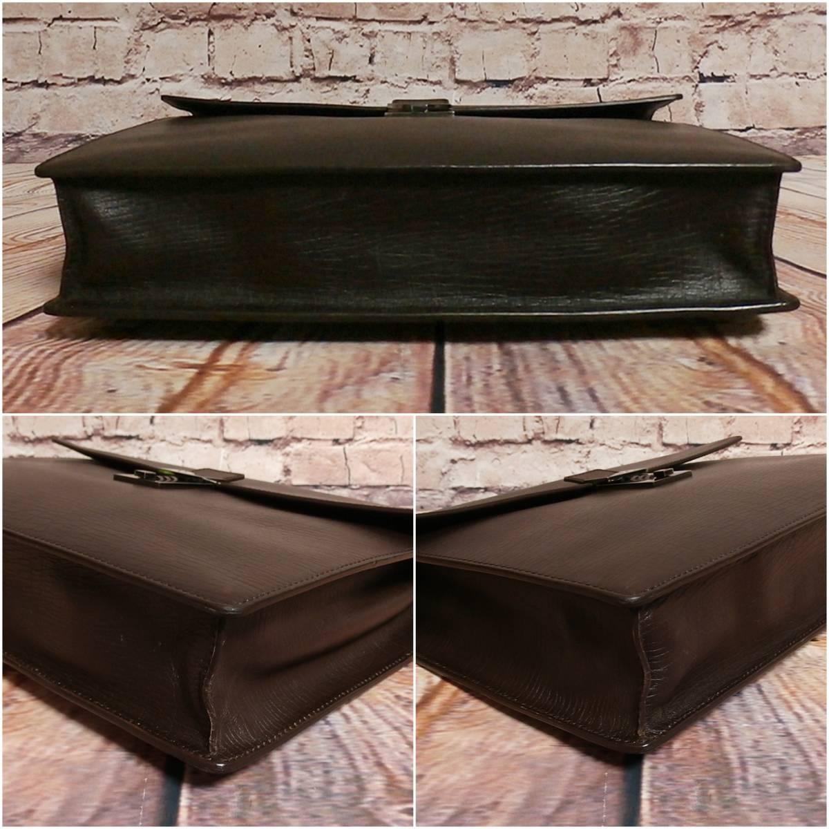 【GUCCI】 グッチ 良好 正規品 最高級 ◆ 本革 レザー ビジネスバッグ ブリーフケース 書類カバン 書類鞄_画像5