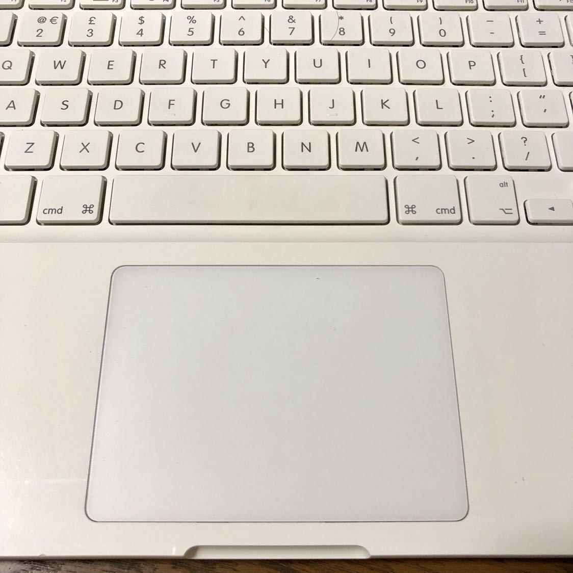 1円スタート 白Mac最終モデル Apple MacBook Mid 2010 /13inch/2.4GHz Core2Duo/4GB/新品SSD120GB/UK配列/macOs Mojave/60W AC付_画像6