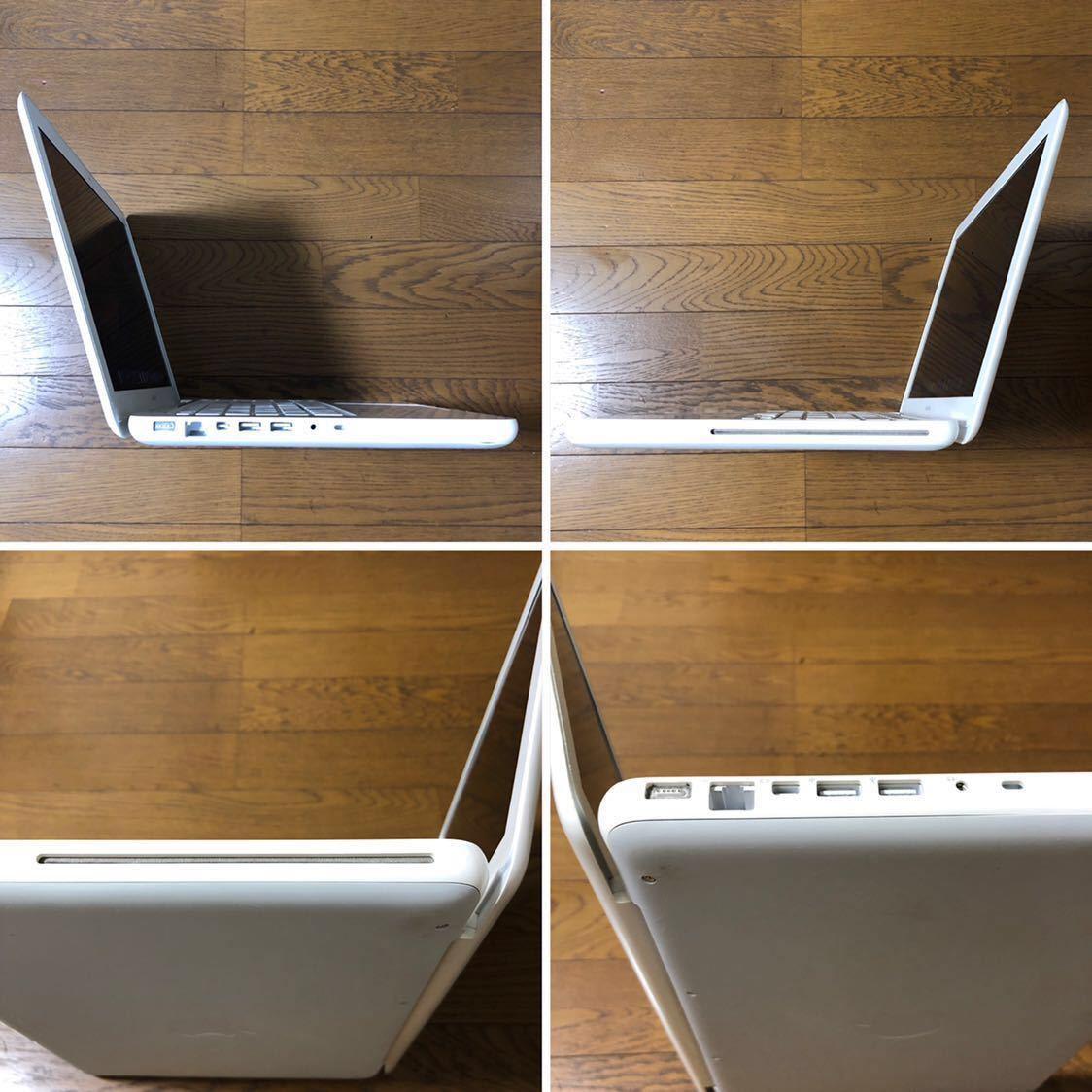 1円スタート 白Mac最終モデル Apple MacBook Mid 2010 /13inch/2.4GHz Core2Duo/4GB/新品SSD120GB/UK配列/macOs Mojave/60W AC付_画像4