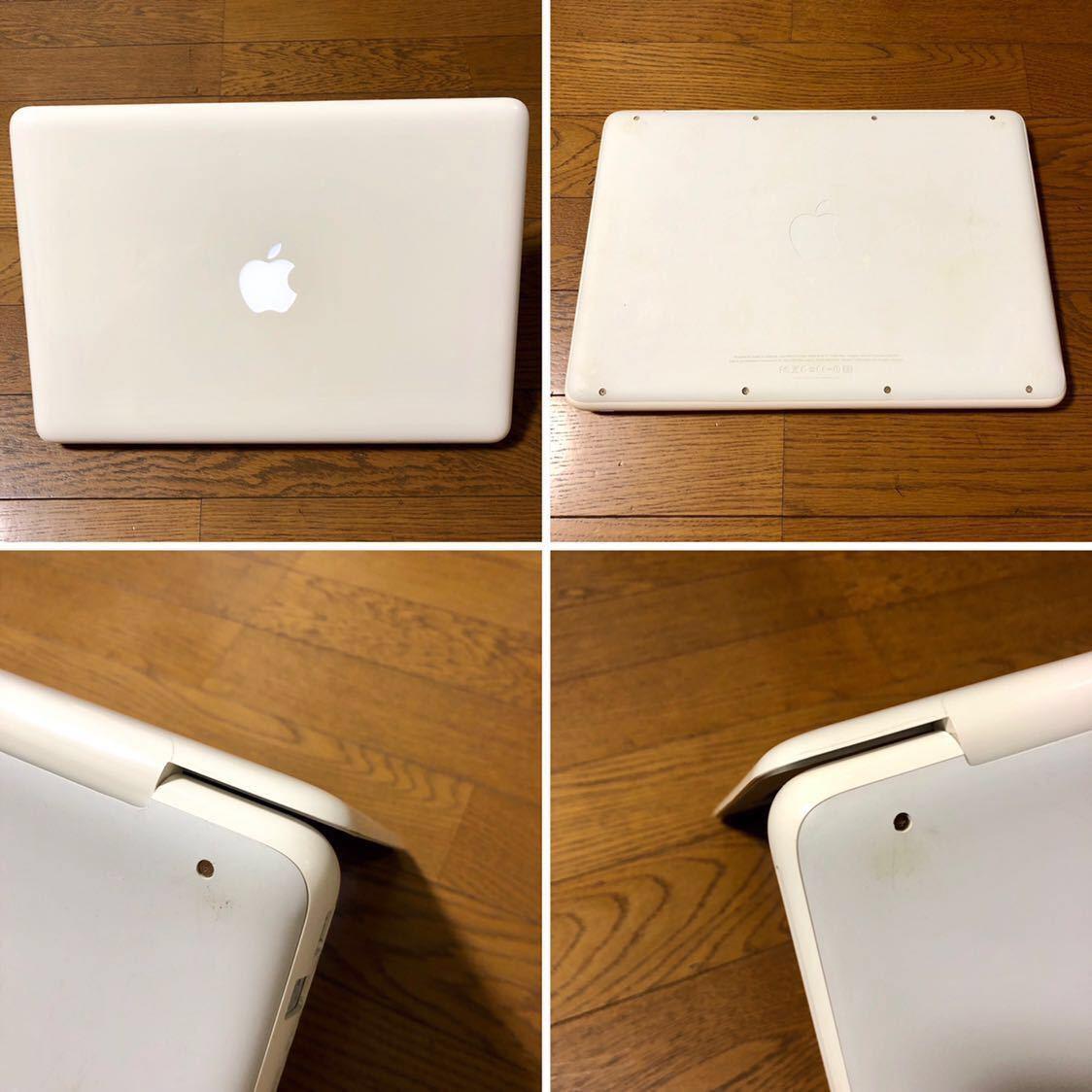 1円スタート 白Mac最終モデル Apple MacBook Mid 2010 /13inch/2.4GHz Core2Duo/4GB/新品SSD120GB/UK配列/macOs Mojave/60W AC付_画像5