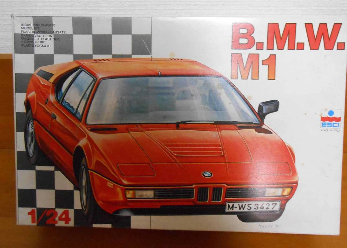 希少 ESCI 24分の1スケール B.M.W. M1(全揃い)MADE IN ITALY_画像8