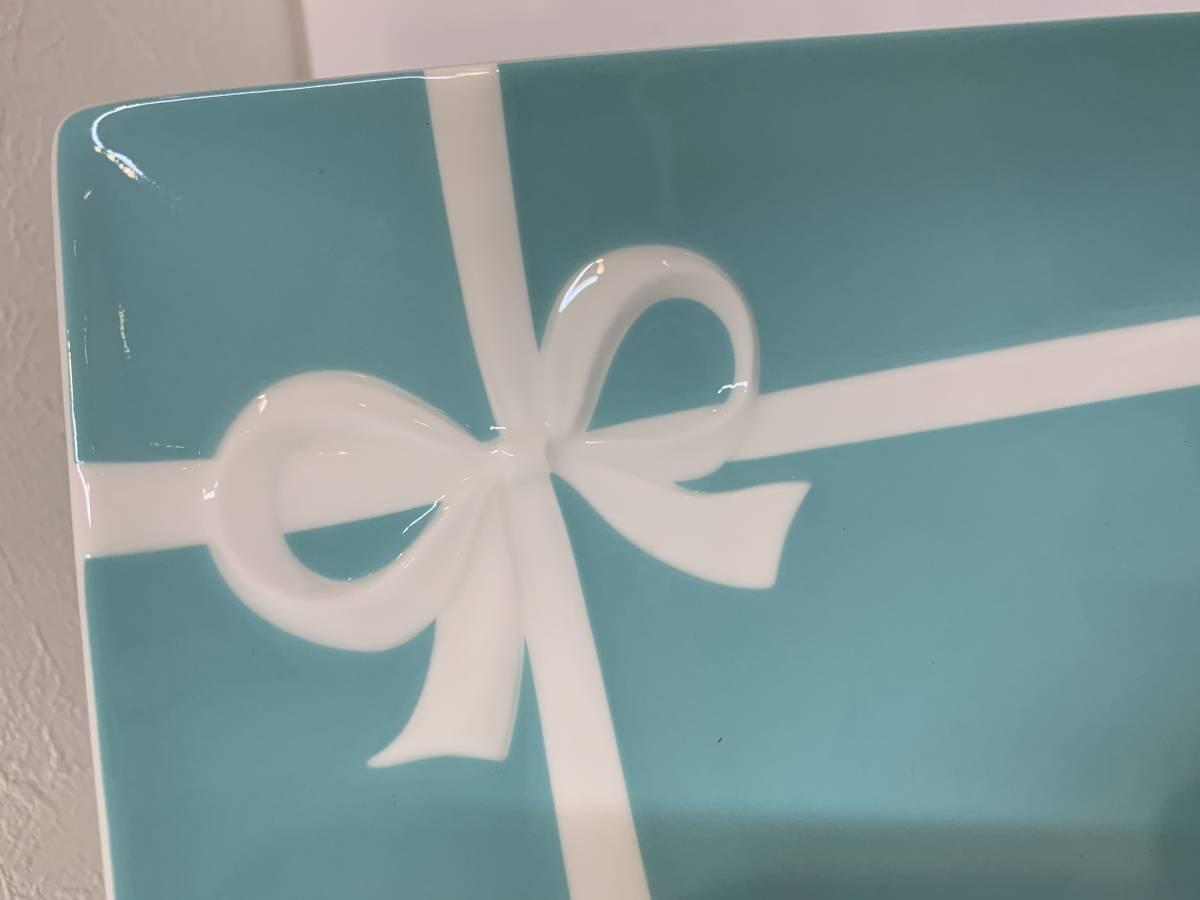 ★☆【9675】 Tiffany&Co. ティファニー プレート ◆ 食器 大皿 リボン ◆ 未使用品☆★_画像3