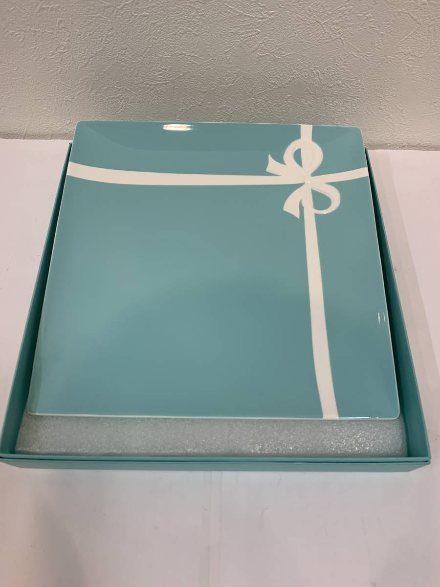 ★☆【9675】 Tiffany&Co. ティファニー プレート ◆ 食器 大皿 リボン ◆ 未使用品☆★
