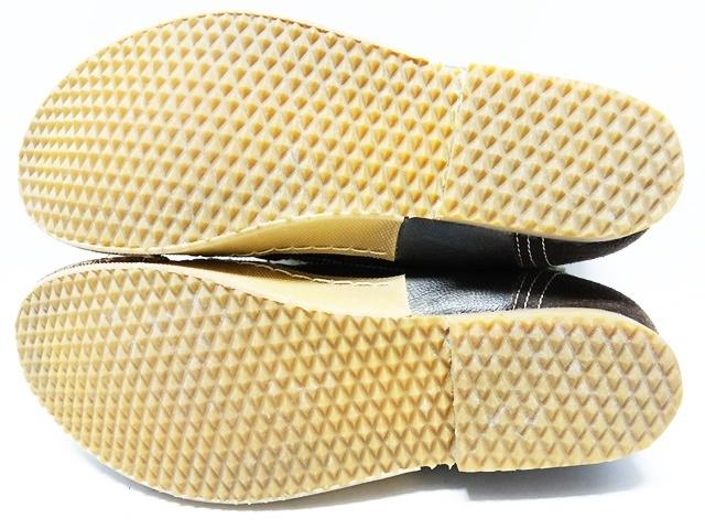 即決★whoop'EE'★25cm レザーチャッカブーツ フーピー メンズ 40 茶 ブラウン 本革 レースアップ 本皮 ウールコンビ 革靴_画像5